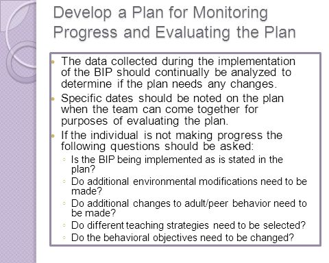 Develop a Plan for Monitoring Progress and Evaluating the Plan