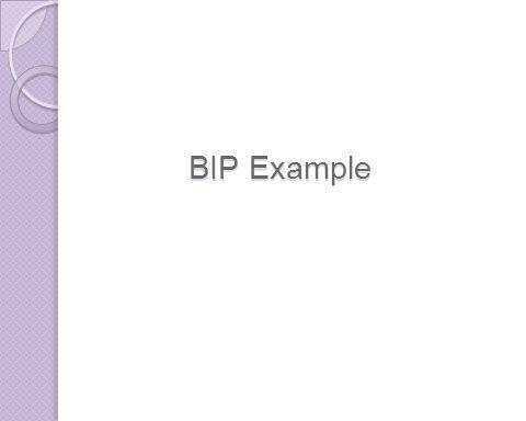 BIP Example