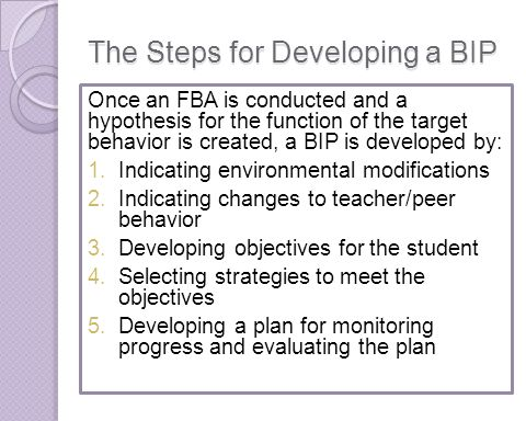 The Steps for Developing a BIP