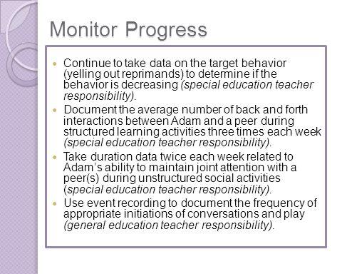 Monitor Progress