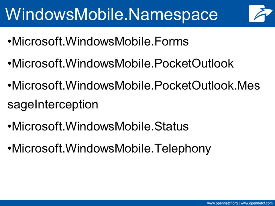 WindowsMobile.Namespace