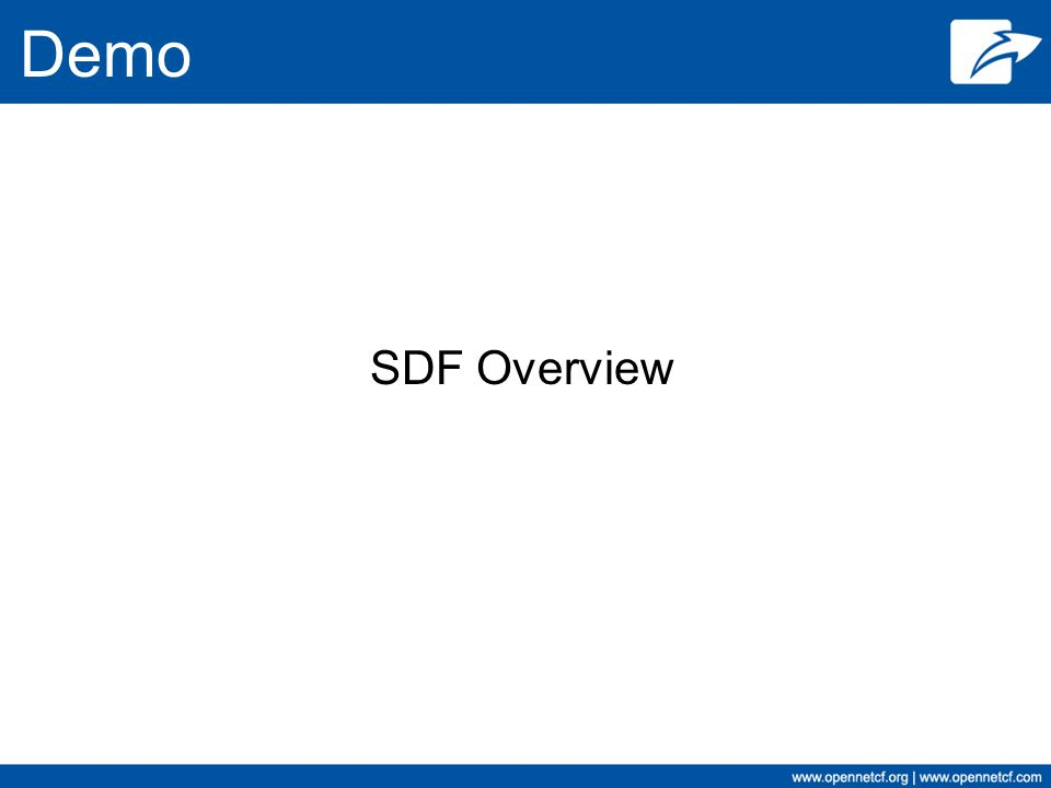 Demo SDF Overview
