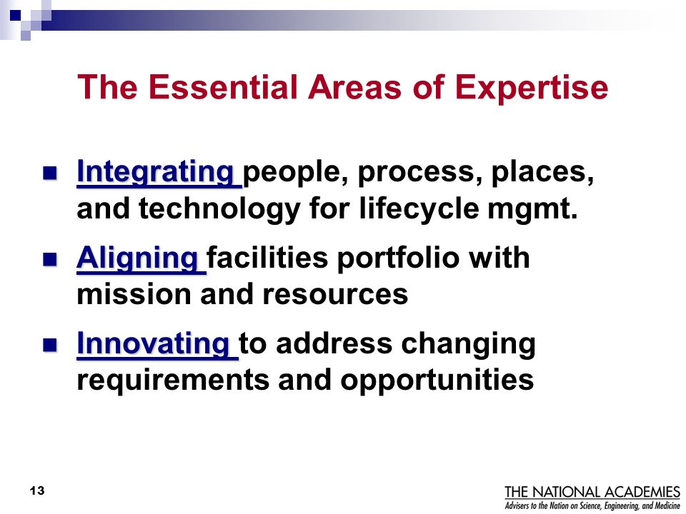 The Essential Areas of Expertise