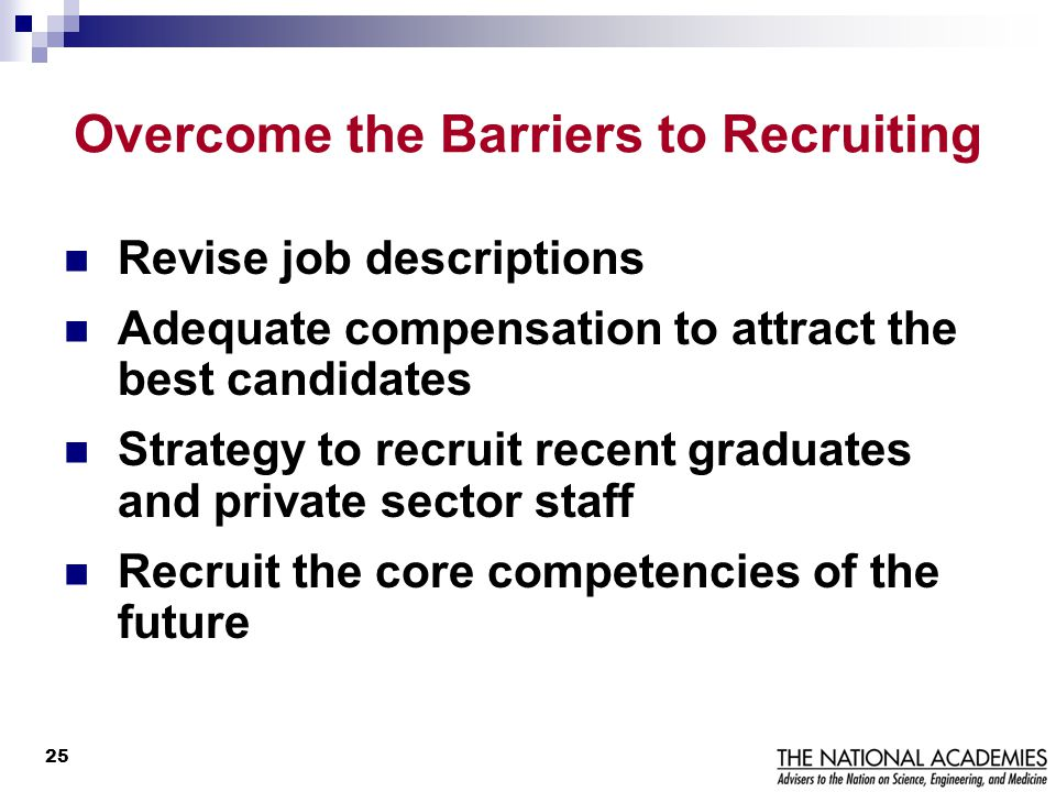 Overcome the Barriers to Recruiting