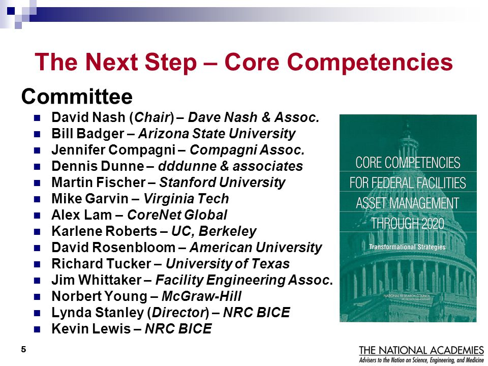 The Next Step – Core Competencies