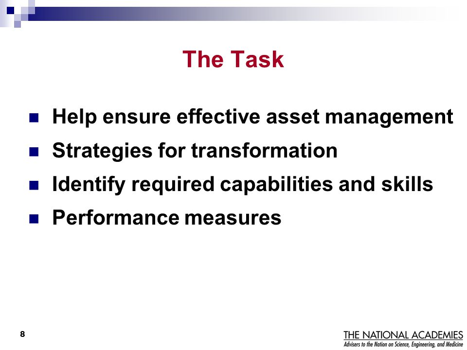 The Task Help ensure effective asset management