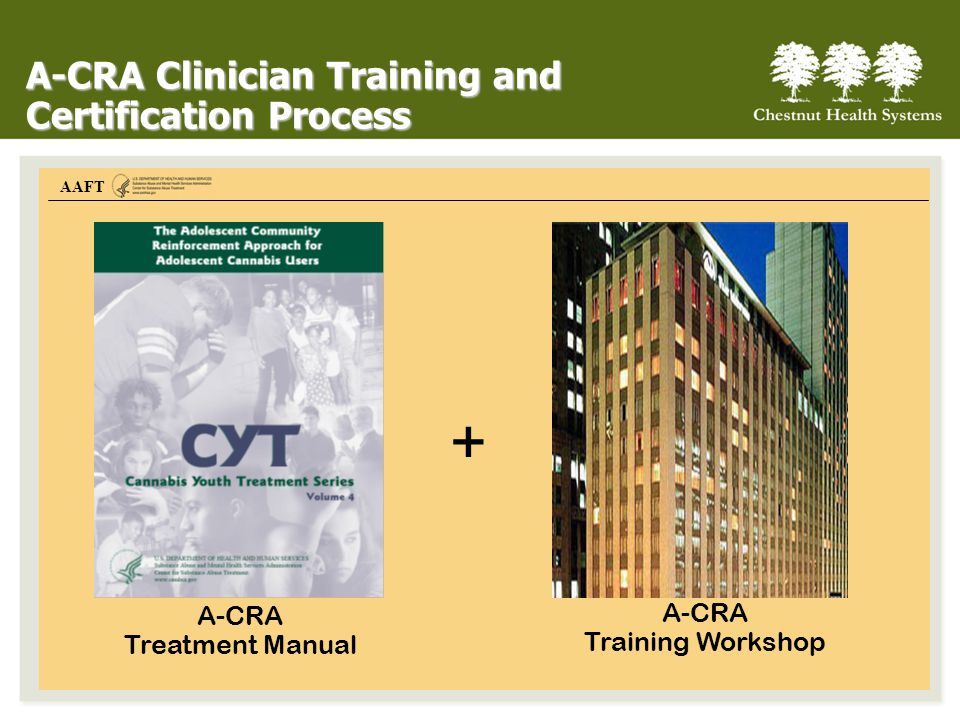 + A-CRA Clinician Training and Certification Process