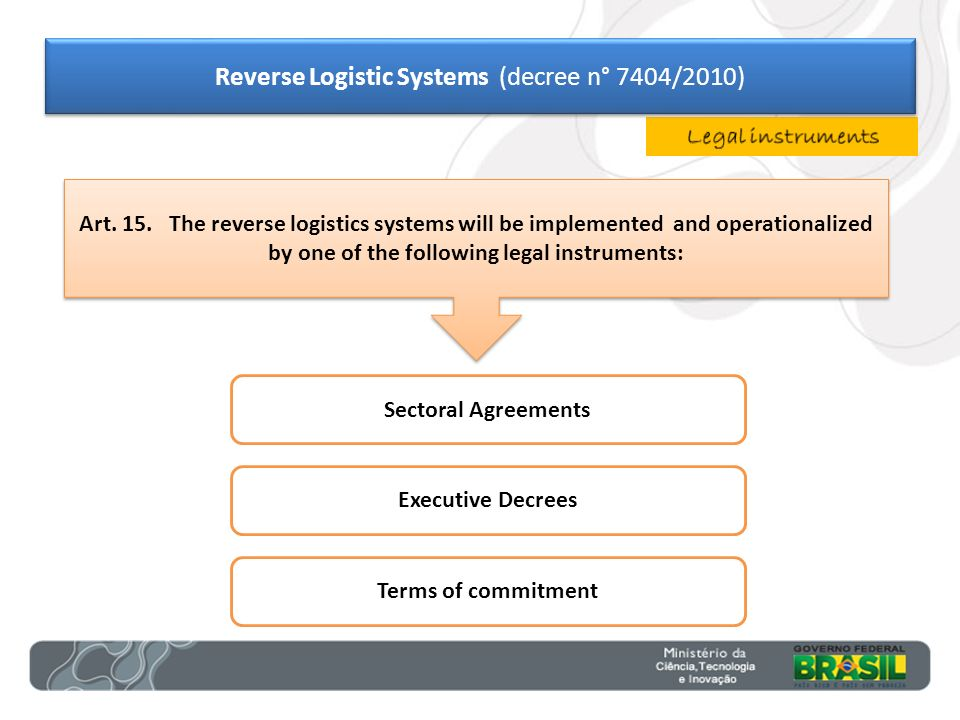 Reverse Logistic Systems (decree n° 7404/2010)