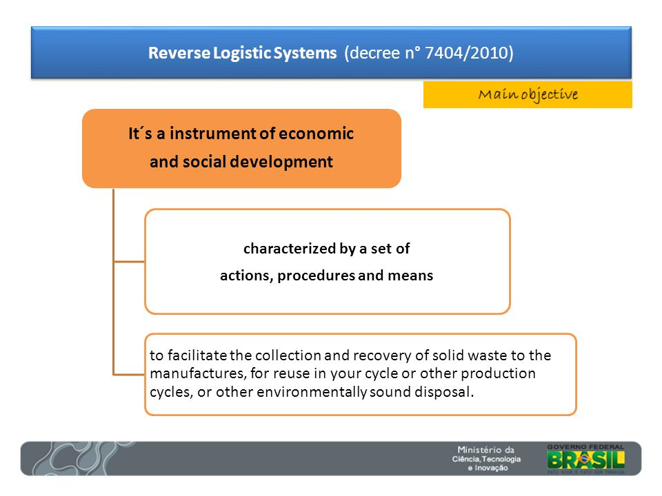 It´s a instrument of economic and social development