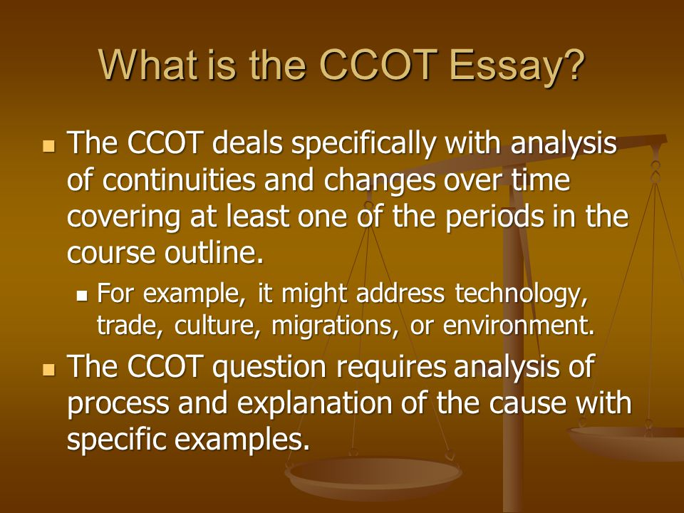 ccot essay example Essays paid writing help for college essay responsibility waiting for godot to the later ordinary.