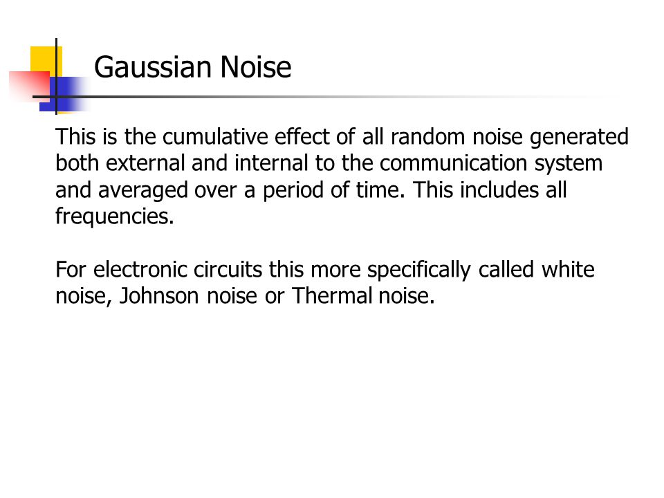 Gaussian Noise