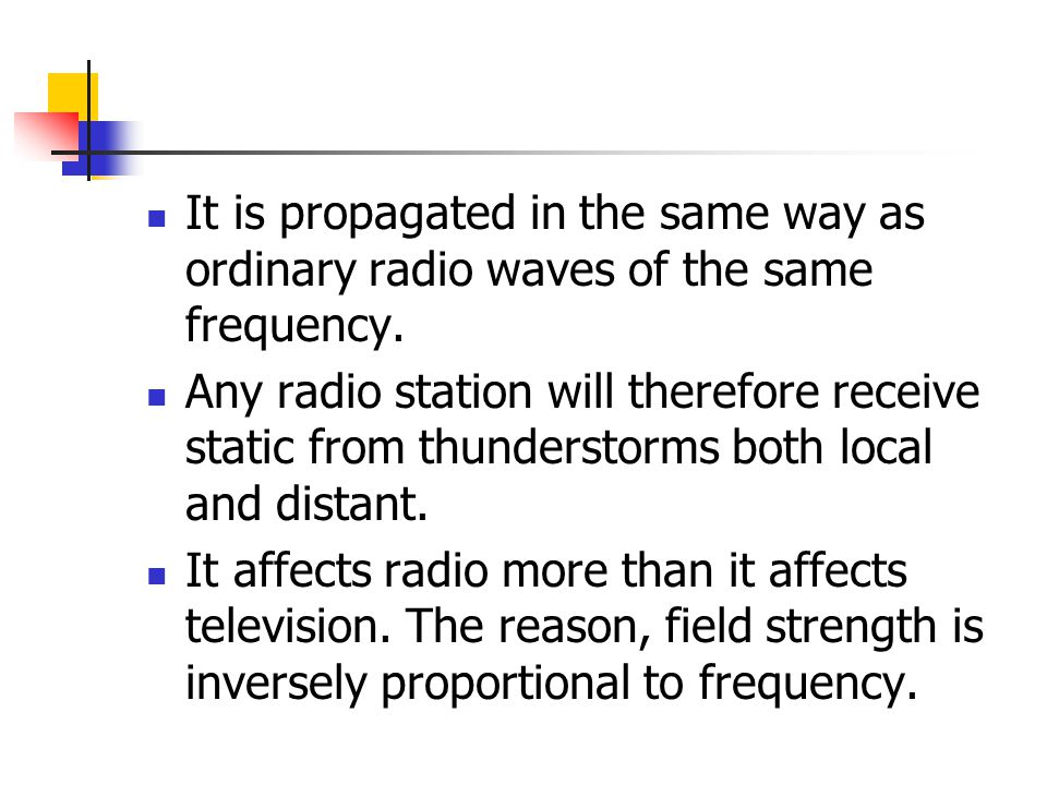 It is propagated in the same way as ordinary radio waves of the same frequency.