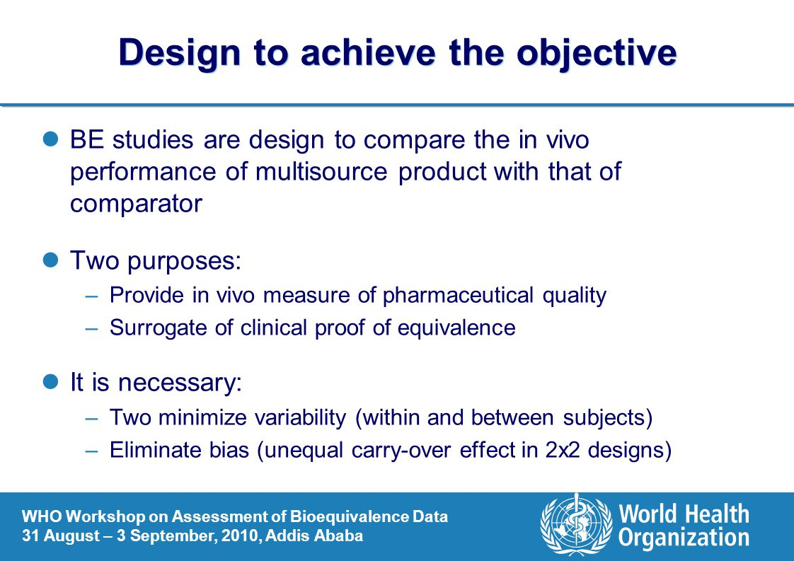 Design to achieve the objective