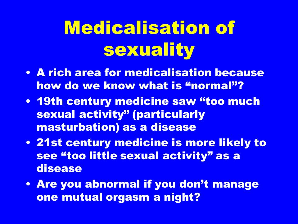 Medicalisation of sexuality
