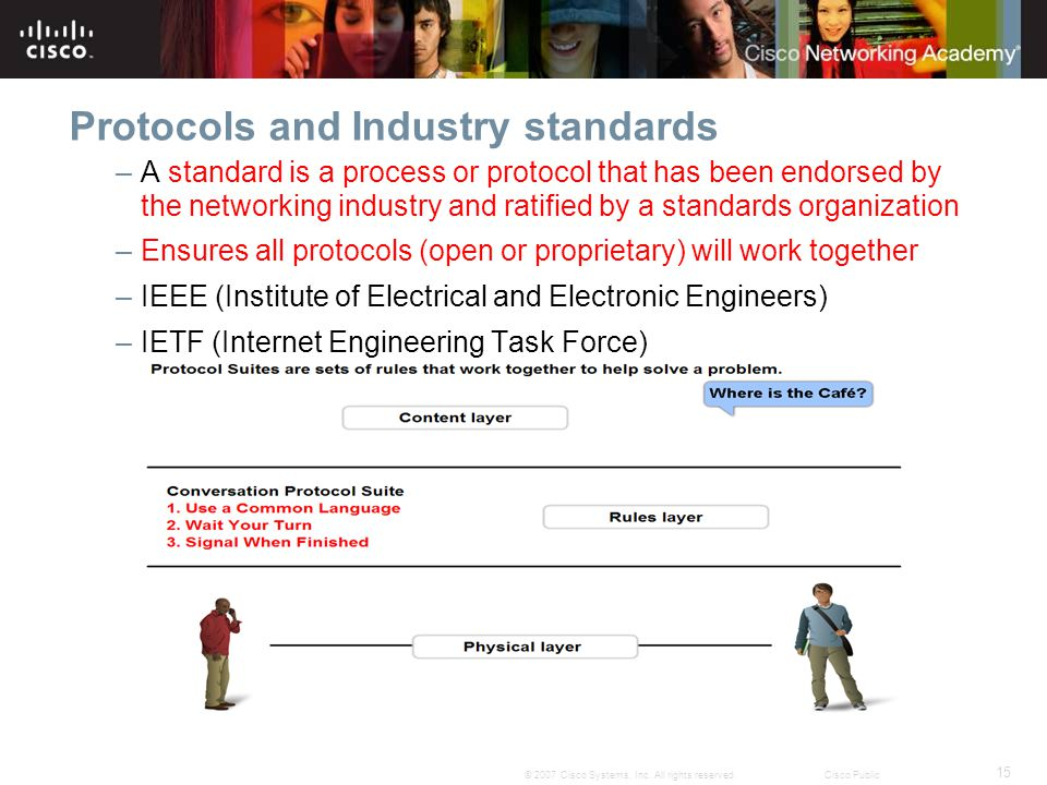 Protocols and Industry standards