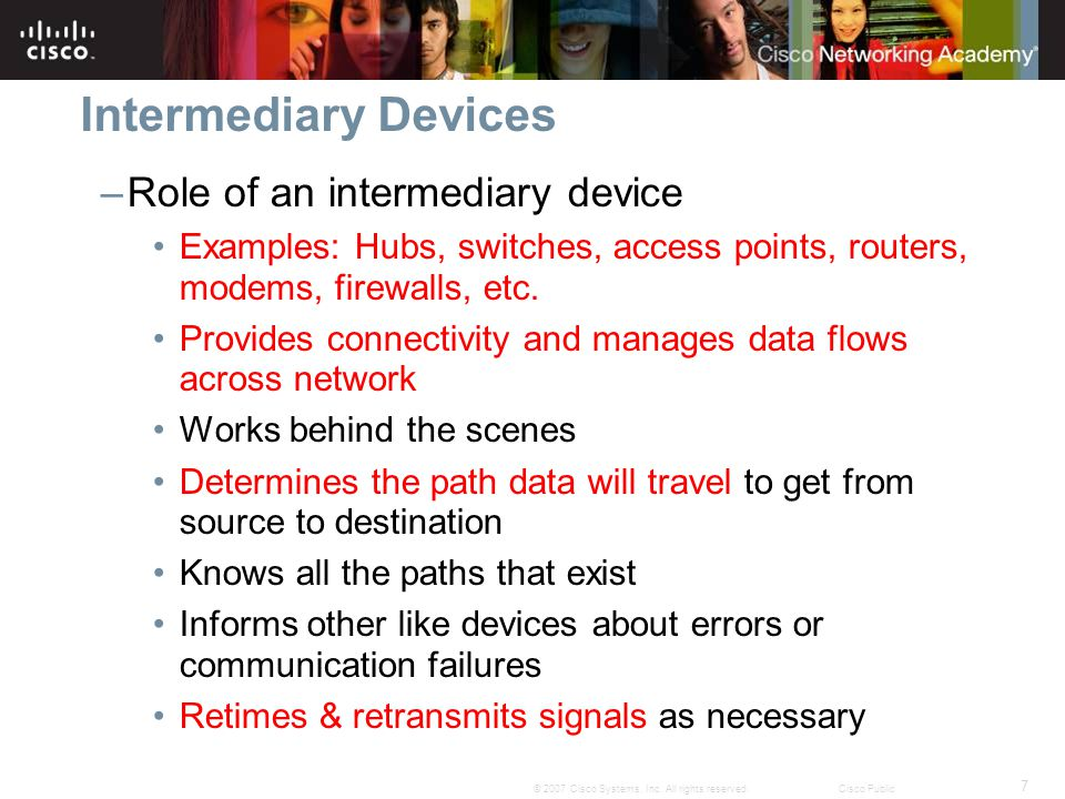 Intermediary Devices Role of an intermediary device