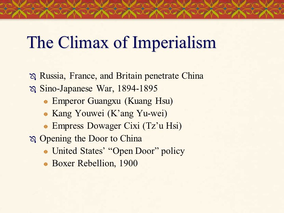 The Climax of Imperialism