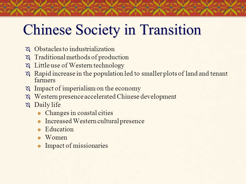 Chinese Society in Transition
