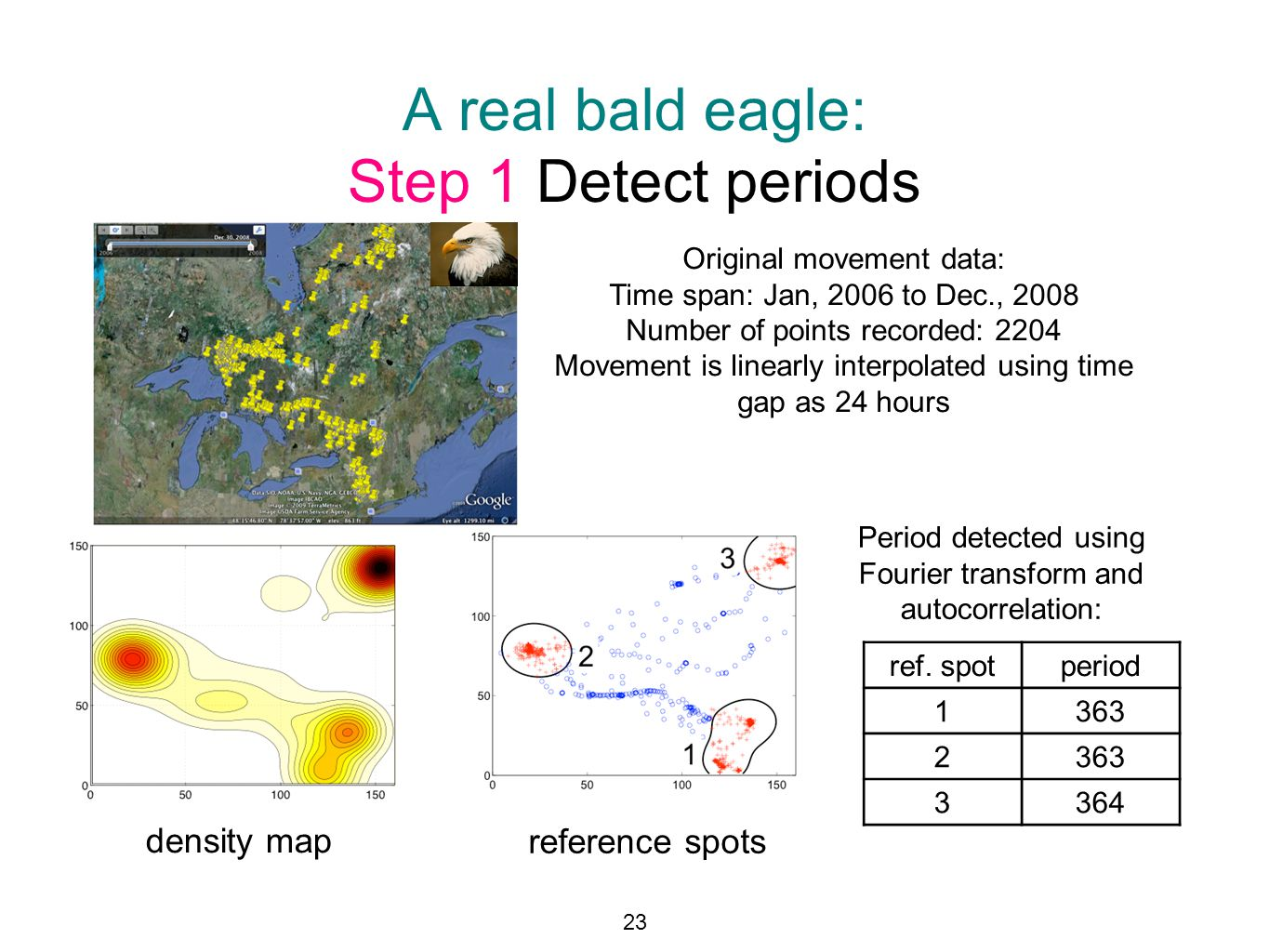 A real bald eagle: Step 1 Detect periods