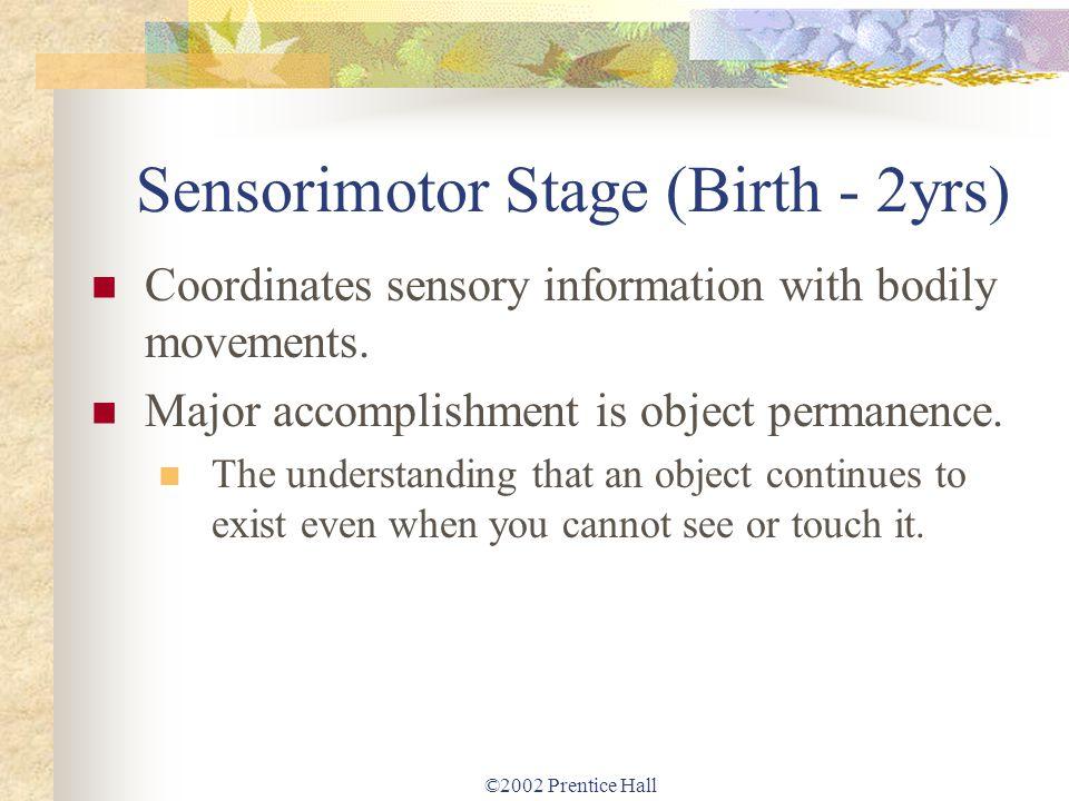 Sensorimotor Stage (Birth - 2yrs)