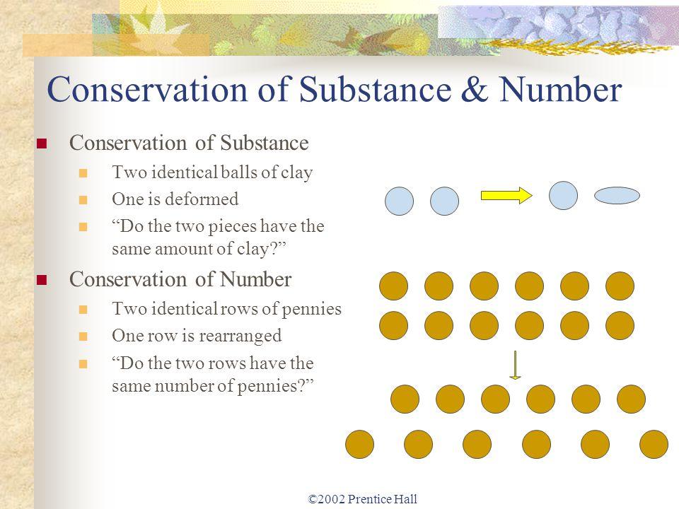 Conservation of Substance & Number