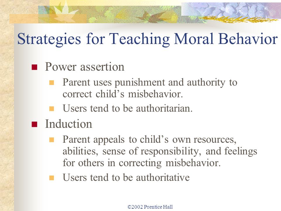 Strategies for Teaching Moral Behavior
