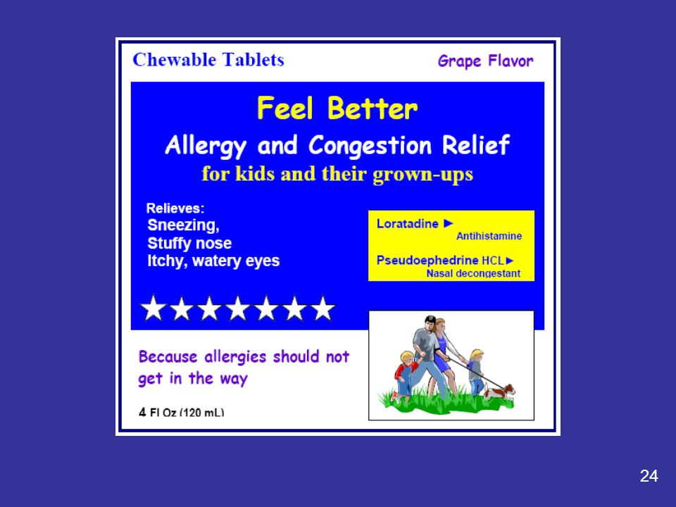Hey, look at that. It is another Feel Better allergy medicine, but this one is called: Feel Better Allergy and Congestion Relief.