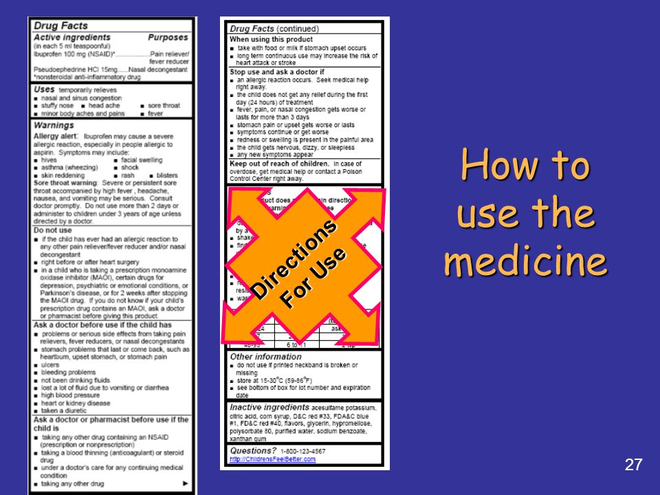 How to use the medicine Directions For Use