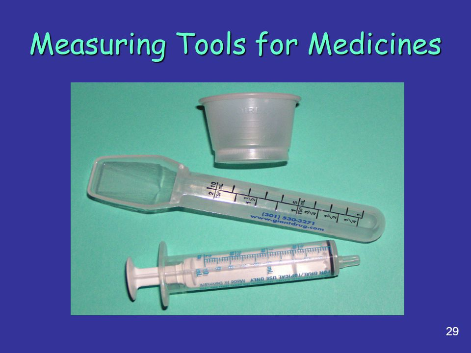 Measuring Tools for Medicines