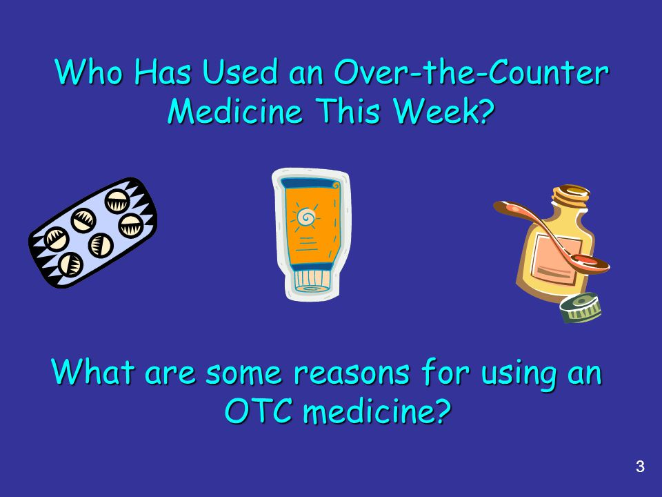 Who Has Used an Over-the-Counter Medicine This Week