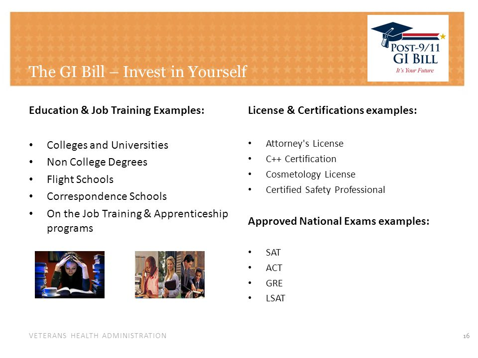 GI Bill - Going Back to School
