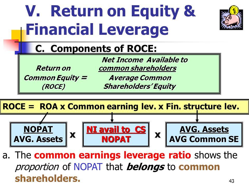 V. Return on Equity & Financial Leverage