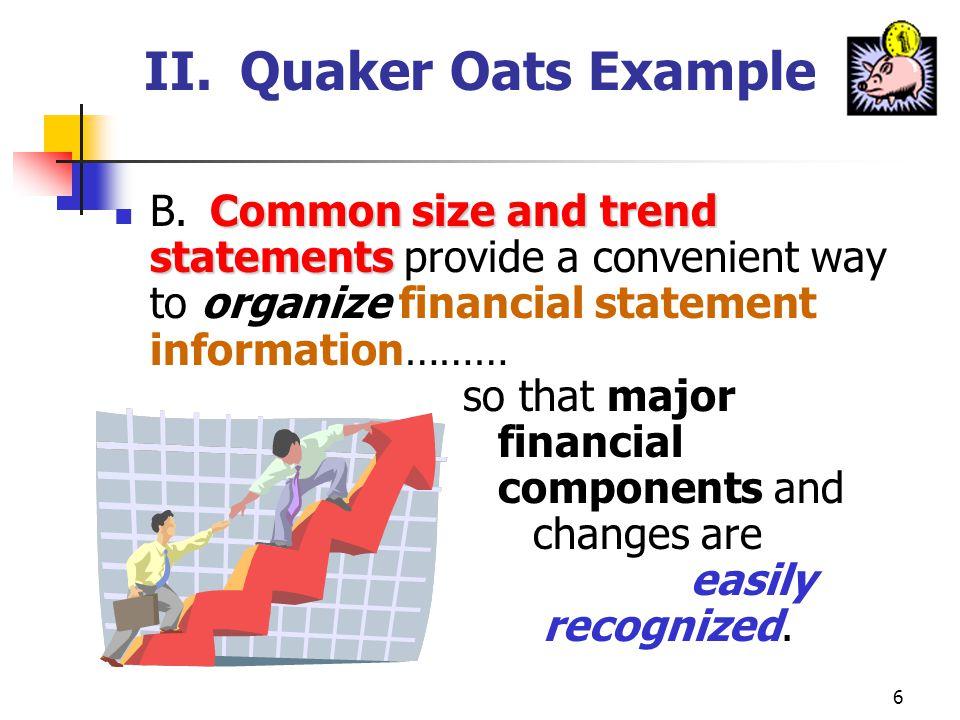II. Quaker Oats Example