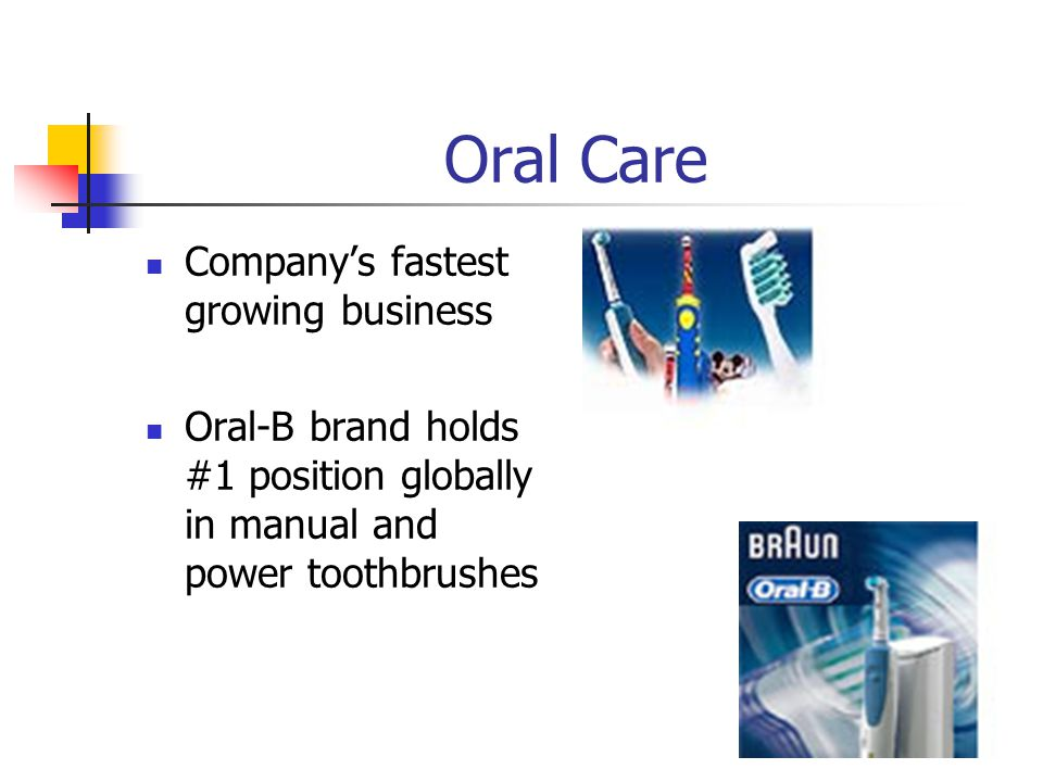 Oral Care Company's fastest growing business