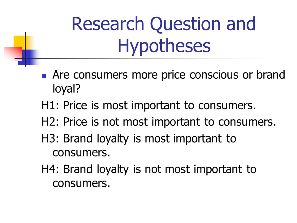 Research Question and Hypotheses