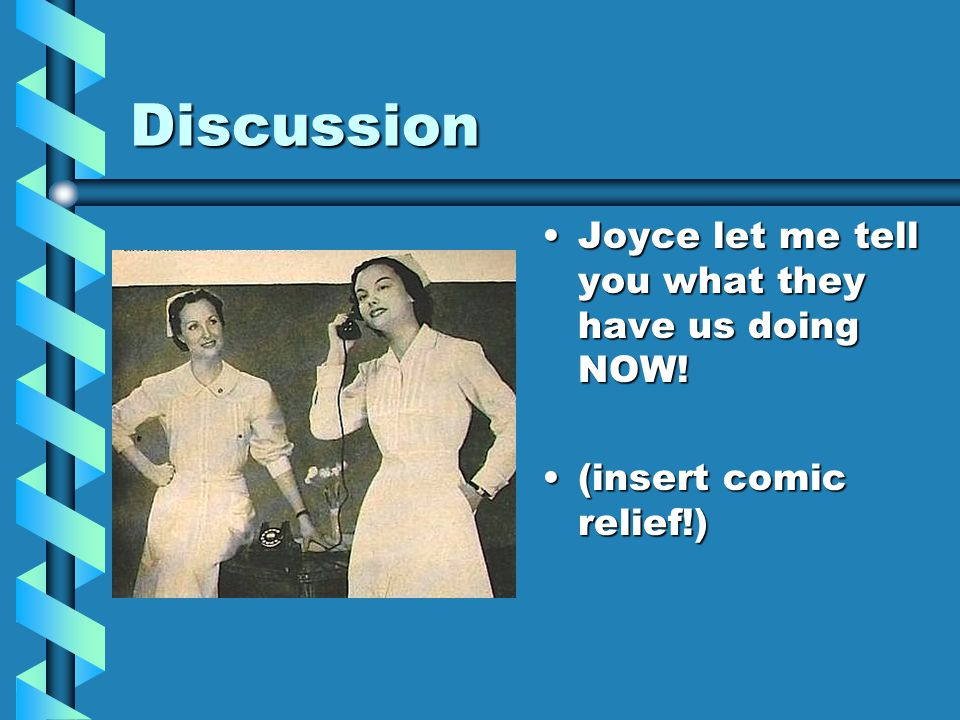 Discussion Joyce let me tell you what they have us doing NOW!