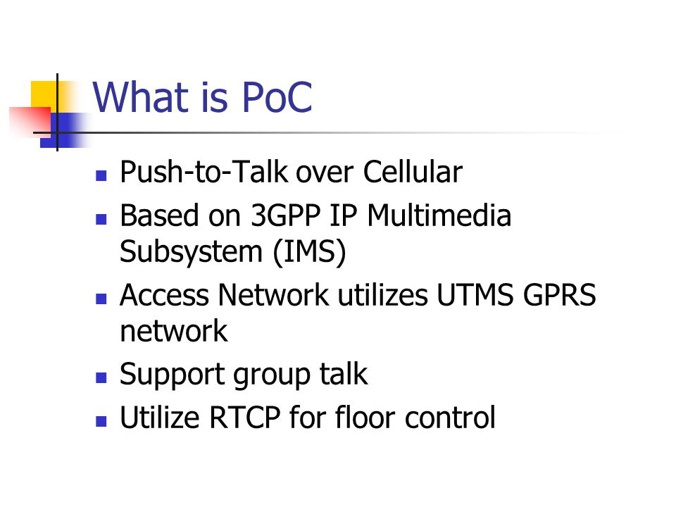 What is PoC Push-to-Talk over Cellular