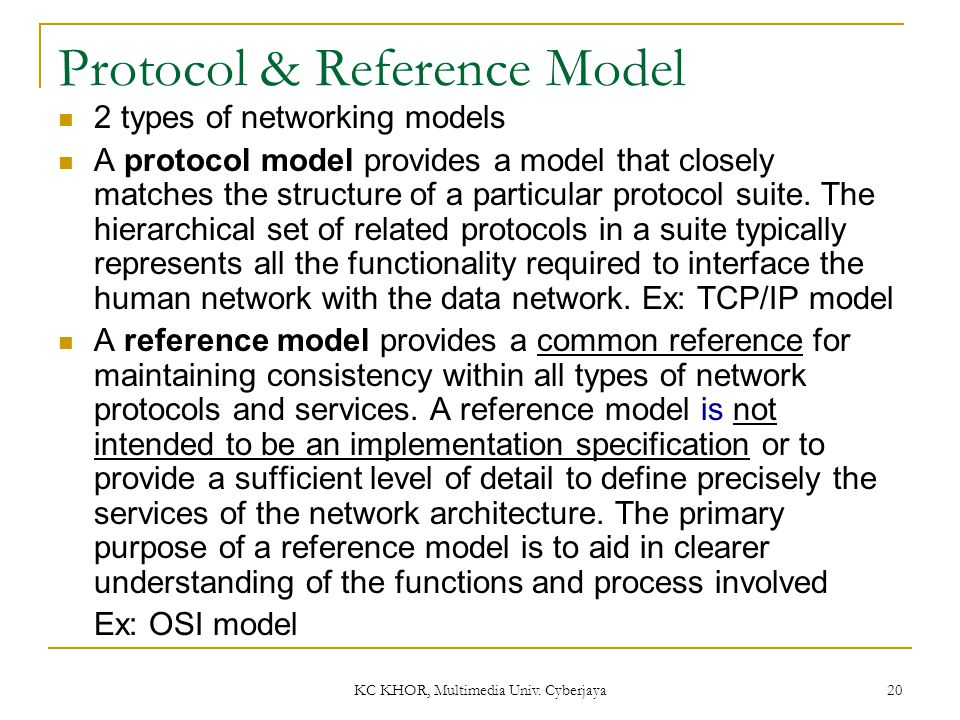 Protocol & Reference Model