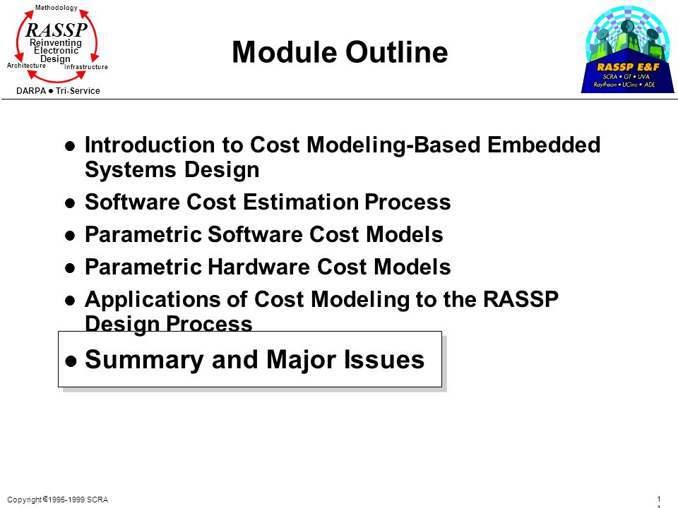 Module Outline Summary and Major Issues
