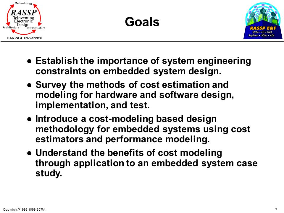 Goals Establish the importance of system engineering constraints on embedded system design.