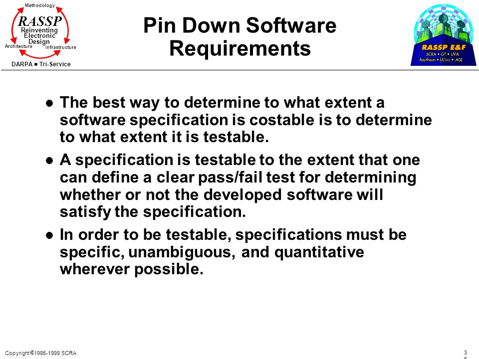 Pin Down Software Requirements