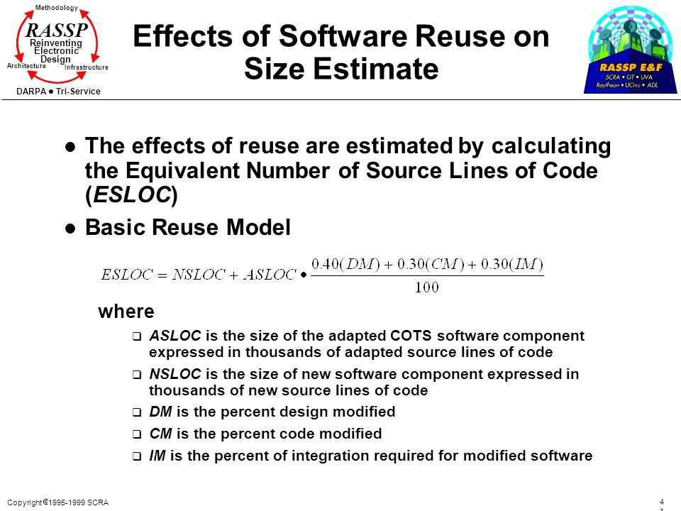 Effects of Software Reuse on Size Estimate