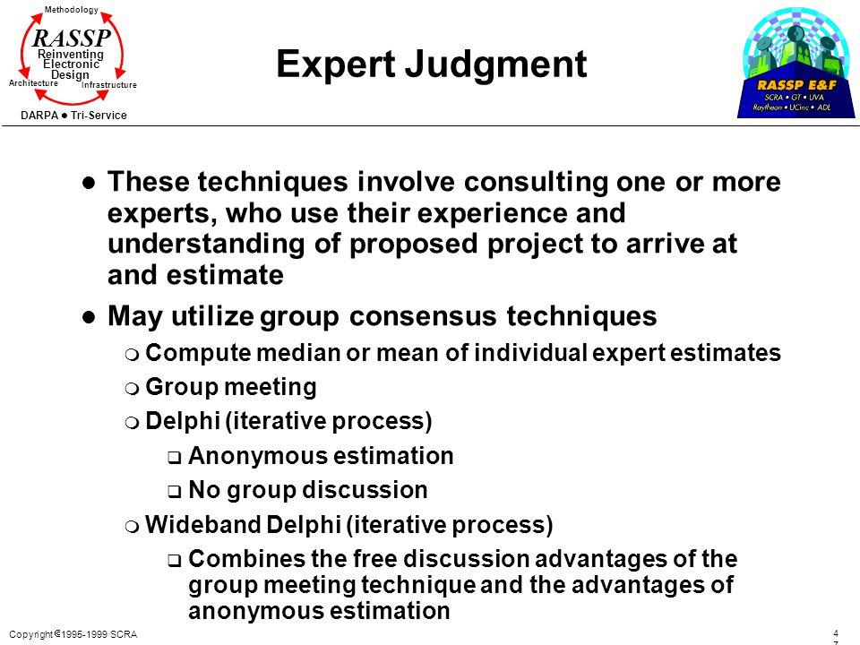 Expert Judgment