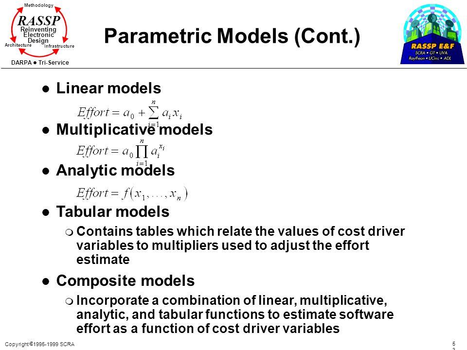 Parametric Models (Cont.)