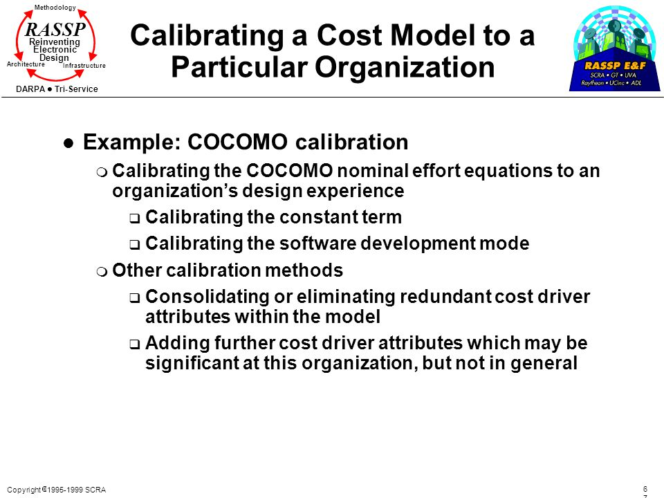 Calibrating a Cost Model to a Particular Organization