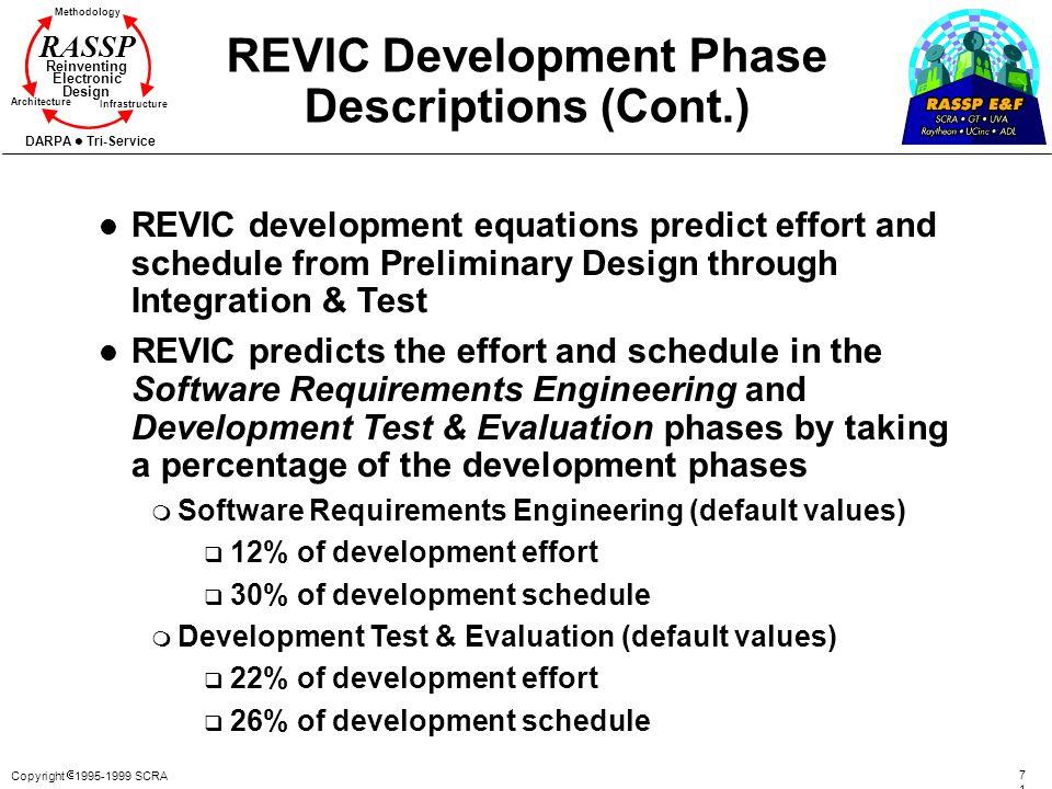 REVIC Development Phase Descriptions (Cont.)
