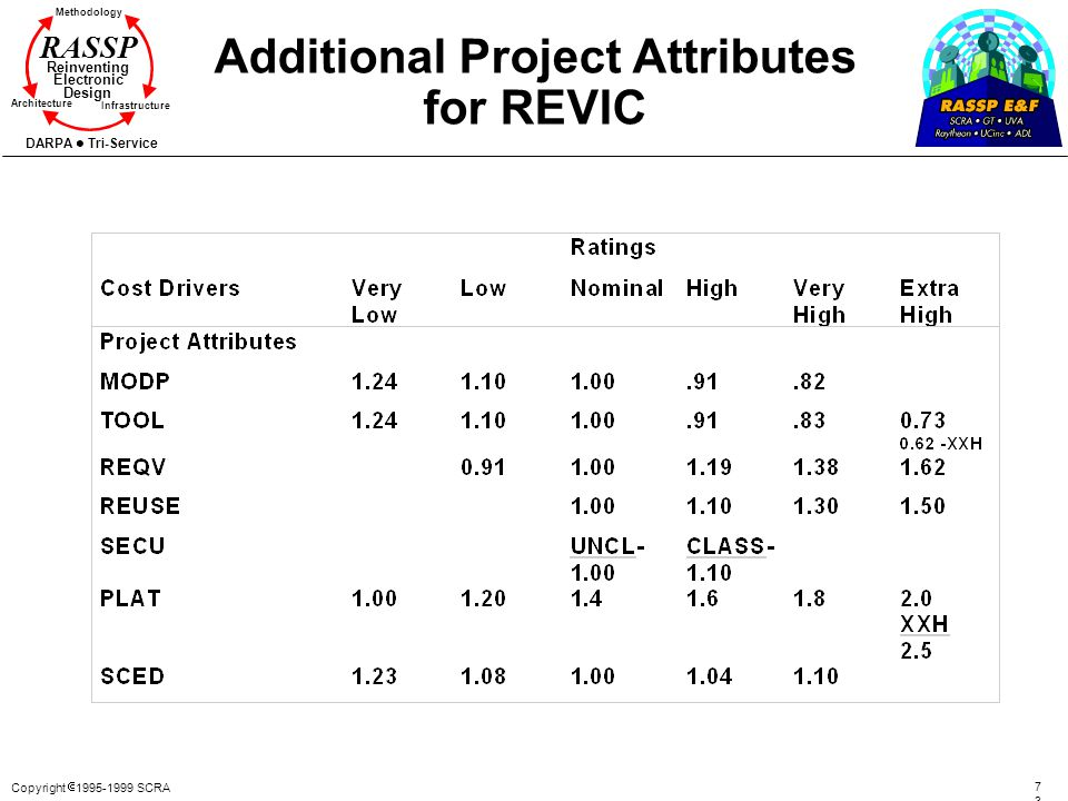 Additional Project Attributes for REVIC