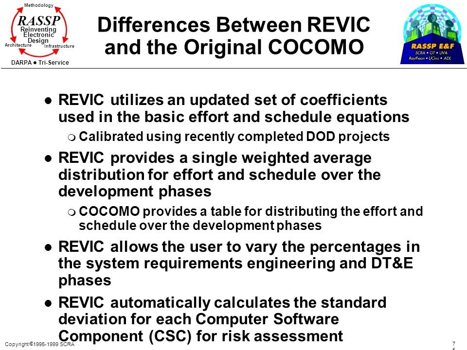 Differences Between REVIC and the Original COCOMO