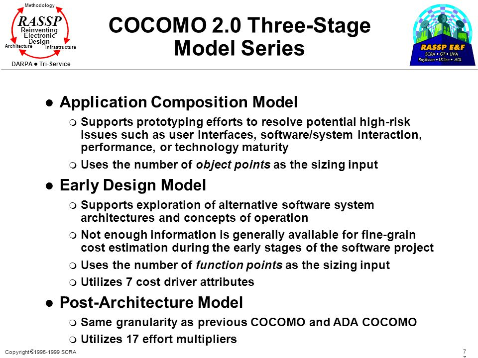 COCOMO 2.0 Three-Stage Model Series