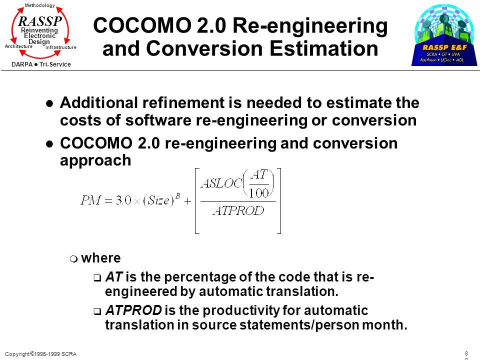 COCOMO 2.0 Re-engineering and Conversion Estimation